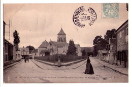 0279 - Soisy Sous Etiuolle -rues Notre-Dame Et Galliani - Abside De L'église - J.L.C. - N°12 - Autres Communes