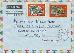 Ghana 1977 Yeji Chameleon Aerogramme - Ghana (1957-...)