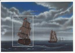 Angola 1996 MNH Scott #964 Souvenir Sheet 12,000k HMS Tremendous, 1806 - Ships - Angola