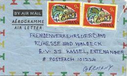 Ghana 1977 Nyakrom Chameleon Aerogramme - Ghana (1957-...)