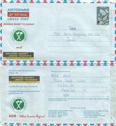 Ghana 2002 Accra Flower C650 Small Font Aerogramme - Ghana (1957-...)