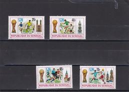 Senegal Nº 401 Al 404 - Copa Mundial