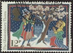 GB 1986 Yv. N°1252 - Coutumes Et Légendes De Noël - 12p La Floraison De L'aubépine De Glastonbury - Oblitéré - Gebraucht
