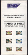 A5899 ZAMBIA 1994, Advertising Brochure For Sunbirds Issue (order Form Detached) - Zambia (1965-...)