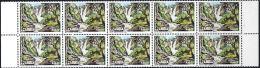 D5024 ZAMBIA 1993, SG 717 Waterfalls K50  Marginal Block Of 10  MNH - Zambia (1965-...)