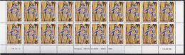 G0019 ZAMBIA 1992, SG 692  K1.00 Orchids,  MNH Block Of 20 Showing Controls And Imprints - Zambia (1965-...)
