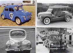 Lot Of 4 Different RENAULT 750 4CV  Postcards  -  4 X CPM - Voitures De Tourisme