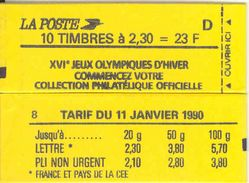FRANCE - BOOKLET / CARNET, Yvert 2614-c6, 1990, 10 X 2.30 Marianne De Briat, Red - Carnets