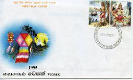 SRI LANKA  -    1995 Vesak Festival   FDC3198 - Sri Lanka (Ceylon) (1948-...)