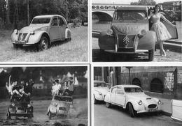 Lot Of 4 Different CITROEN 2CV  Postcards  -  4 X CPM - Turismo