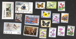 Corée Korea - Lot Of Nice Stamps Flower Butterfly...(Lot2) - Corée Du Sud