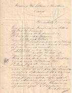 Lettre-Pli Affranchie / Suivi De Commission/Leblanc & Barathieu/Orange Vaucluse/COUVE & Cie/MARSEILLE/1889       TIMB114 - France