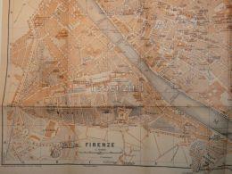 Firenze Italy Map Mappa Karte 1908 - Mappe