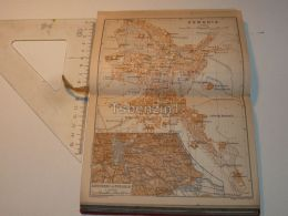Perugia Italy Map Mappa Karte 1908 - Mappe