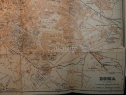 Roma Italy Map Mappa Karte 1908 - Maps