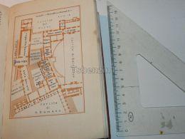 Roma Cortile Di Belvedere Italy Map Mappa Karte 1908 - Mappe