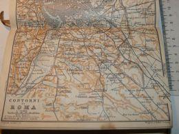 Contorni Di Roma Italy Map Mappa Karte 1908 - Mappe