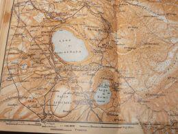 Lago Di Albano Nemi Frascati MarinoVelletri Italy Map Mappa Karte 1908 - Mappe