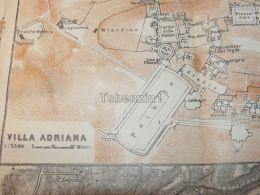 Villa Adriana Italy Map Mappa Karte 1908 - Mappe