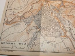 Contorni Di Tivoli Italy Map Mappa Karte 1908 - Mappe