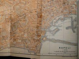 Napoli Italy Map Mappa Karte 1908 - Maps