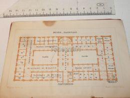 Napoli Museo Nazionale Italy Map Mappa Karte 1908 - Maps