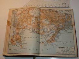 Napoli Contorni Marano Chiajano Golfo Di Pozzuoli Napoli Pianura Italy Map Mappa Karte 1908 - Mappe
