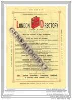 96 114 ANGLETERRE LONDRES Ets LONDON DIRECTORY COMPANY 25 Abchurch Lane EC 4 - United Kingdom