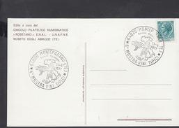 ITALIA  1977 - Mostra Vini - Montepagano - Annullo Speciale Illustrato - Vini E Alcolici