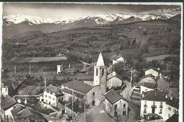 66 CPSM EN AVION AU DESSUS DE SAILLAGOUSE PLACE DE L'EGLISE EDITEUR LAPIE - Autres Communes