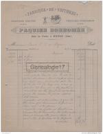 60 336 NOYON OISE 1893 Fabrique De Voitures PAQUIER BORROMEE Rue De Paris A JOUVE - Frankreich