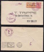 Panama 1929 FFC First Flight AIRMAIL Cover To NEW YORK  USA - Panama