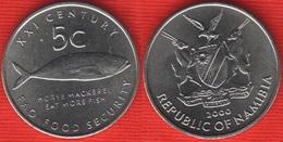 "Namibia 5 Cents 2000 Km#16 ""Fish, FAO"" UNC - Namibia"