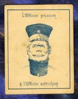 Chromo Officiers Prussien Autrichien Austrian Officer Optical Illusion D'Optique - Other