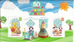 Australia 2016 MNH Souvenir Sheet Of 2 50 Years Of Play School - Nuovi
