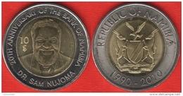 "Namibia 10 Dollars 2010 ""Bank Of Namibia"" BiMetallic - Namibia"