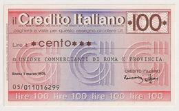 Italie (UNC) 100 LIRE (1/3/1976 ) BIGLIETTO NUOVO/UNC/BILLET NEUF - UNC - [ 2] 1946-… : Républic
