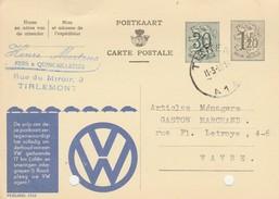 Grimde (tirlemont) ,carte Publicité ,  Henri   Mertens ,fers & Quincaillerie ,( Pub  : VW ) - Tienen