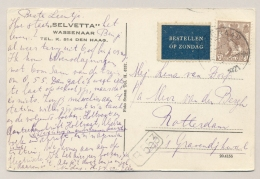 Nederland - 1921 - 7,5c Bontkraag, Bestellen Op Zondag Op Sepiakaart Van Huize Selvetta Wassenaar Naar Rotterdam - Brieven En Documenten