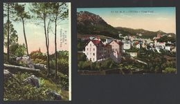 Conjunto De 2 Postais Antigos De Sintra: CINTRA Vista Geral + Castelo Da Pena. Edição De M.F. Nr.121 E 122 Portugal - Lisboa
