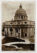 ROMA   SAN  PIETRO  VISTO  DAI  GIARDINI  CITTA'  DEL  VATICANO               (VIAGGIATA) - San Pietro