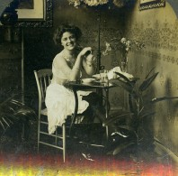 Fantaisie Portrait Féminin La Chance Me Sourit Ancienne Photo Stereo William Rau 1900 - Stereoscopic