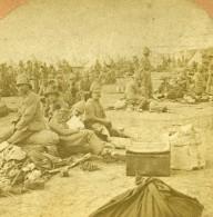 Guerre Des Boers Bataille De Modder River British Regulars Ancienne Photo Stereo Kilburn 1900 - Stereoscopic