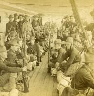 Soldats Americains Insurrection Des Philippines Ancienne Photo Stereo Kilburn 1900 - Stereoscopic