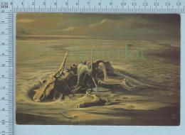 Dinosaure - Dinauraure - Chasmosaurus Mangé Par Un Dromaeosaurus -  Carte Postale Postcard - Animaux & Faune