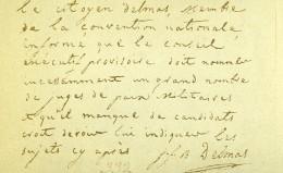 France Paris Photo D'un Autographe Delmas Convention Nationale CDV Mayer & Pierson 1860 - Photographs