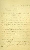 France Paris Photo D' Autographe Signe Comte De Lanfeld? CDV Mayer & Pierson 1860 - Photographs