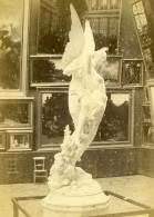 France Paris Exposition Universelle Section Italienne Statue Ange Ancienne Photo CDV 1867 - Photographs