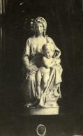 Madone De Bruges Statue De La Vierge Et L'Enfant Michel-Ange Ancienne Photo CDV 1860's - Photographs