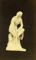 France Paris? Statue En Marbre Femme Nue Assise Ancienne Photo CDV 1860's - Photographs